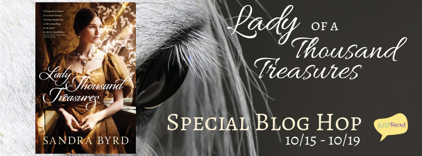 Welcome to a review stop for Lady of a Thousand Treasures Blog Hop
